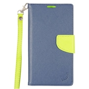 Insten Flip Leather Fabric Cover Case Lanyard w/stand/card slot For LG Stylo 2 Plus - Blue/Green