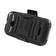 Insten Advanced Armor Hybrid Stand PC/Silicone Holster Case Cover for Huawei Prism 2 II U8686 (disabled) - Black