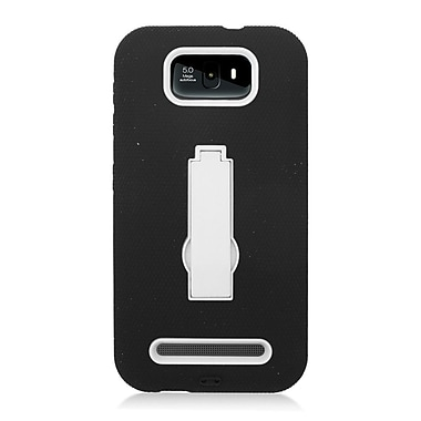 Insten Symbiosis Skin Dual Layer Rubber Hard Cover Case w/stand For BLU Studio 5.5 - Black/White