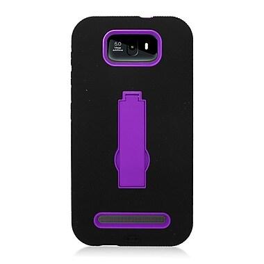 Insten Symbiosis Soft Hybrid Rubber Hard Case w/stand For BLU Studio 5.5 - Black/Purple