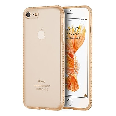 Insten Gel Cover Case w/Diamond For Apple iPhone 7 - Gold