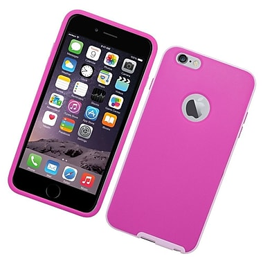 Insten TPU Hard Cover Case for Apple iPhone 6s Plus / 6 Plus - Hot Pink/White