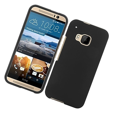 Insten Hard Rubberized Cover Case For HTC One M9 - Black
