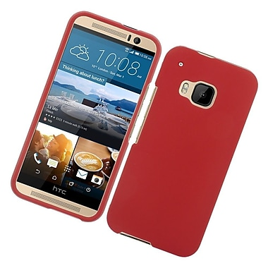 Insten Hard Rubberized Cover Case For HTC One M9 - Red