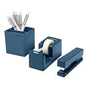 Poppin 4-Piece Starter Set, Slate Blue ABS Plastic (106080)