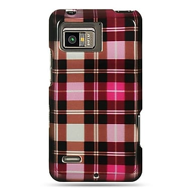 Insten Checker Hard Crystal Skin Back Cover Case For Motorola Droid Bionic XT875 - Pink