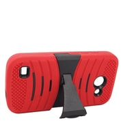 Insten Wave Symbiosis Gel Dual Layer Hybrid Case with stand For Huawei Tribute 4G LTE - Red/Black