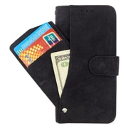 Insten Book-Style Leather Fabric Cover Case Pocket wallet w/card slot For HTC Desire 520 - Black