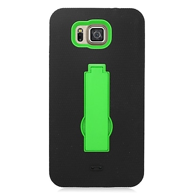 Insten Symbiosis Soft Hybrid Rubber Hard Stand Case For Samsung Galaxy Alpha - Black/Green