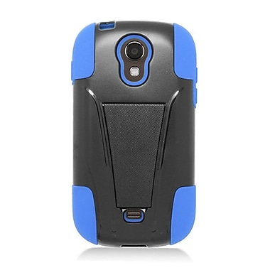 Insten Hard Hybrid Plastic Silicone Case with stand for Samsung Galaxy Light - Black/Blue