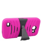 Insten Wave Symbiosis Hybrid 2-Layer Case with stand For Huawei Tribute 4G LTE - Hot Pink/Black