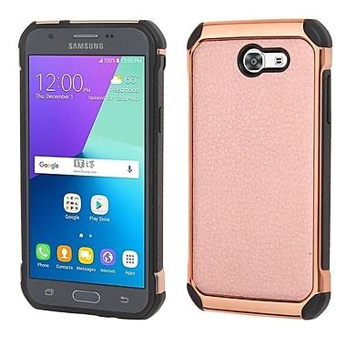 Insten Hard Dual Layer TPU Case For Samsung Galaxy J3 (2017) - Rose Gold/Black