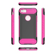 Insten Hard Hybrid TPU Cover Case For Apple iPhone 7 - Black/Hot Pink