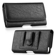 Insten Horizontal Leather Wallet Pouch Flip Belt Clip Case Cover For Samsung Galaxy Note - Black