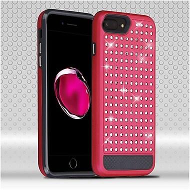 Insten Hard Hybrid Diamond Silicone Case For Apple iPhone 7 Plus / 6s Plus / 6 Plus - Red/Black