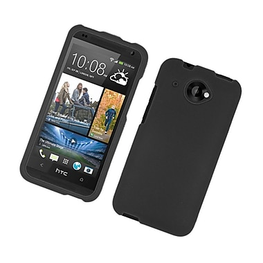 Insten Rubberized Hard Snap-in Case Cover for HTC deisre 601 - Black