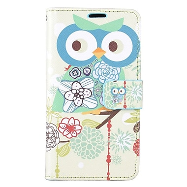 Insten Owl Folio Leather Fabric Cover Case w/stand/card slot For Samsung Galaxy J7 (2016) - Blue/Green