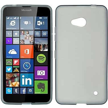 Insten Hard Crystal Skin Tinted Back Protective Case For Microsoft Lumia 640 - Smoke