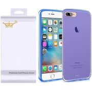 Insten Frosted Rubber Cover Case with Screen Protector For Apple iPhone 7/ 8, Blue