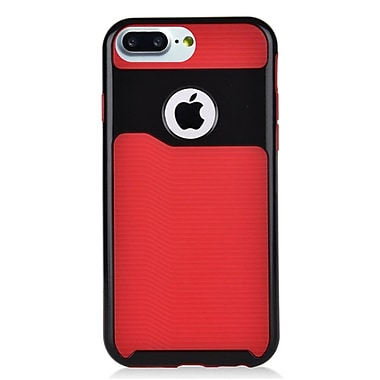 Insten Slim Dual Layer Hybrid PC/TPU Rubber Case Cover for Apple iPhone 7 Plus - Red/Black