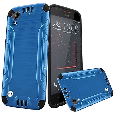 Insten Slim Armor Brushed Metal Design Hybrid Hard PC/TPU Dual Layer Case For HTC Desire 530 - Dark Blue/Black