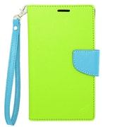 "Insten Universal PU Leather Case w/Card Slot Compatible With 6"" Phone, Green/Blue"