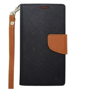 "Insten Universal PU Leather Case w/Card Slot Compatible With 6"" Phone, Black/Brown"