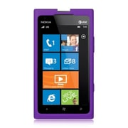 Insten Hard Crystal Skin Protective Shell Back Case For Nokia Lumia 900 - Purple
