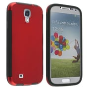 Insten Red Hybrid Sleek and Slim ION Cover Premium Case For Samsung Galaxy S4 IV i9500