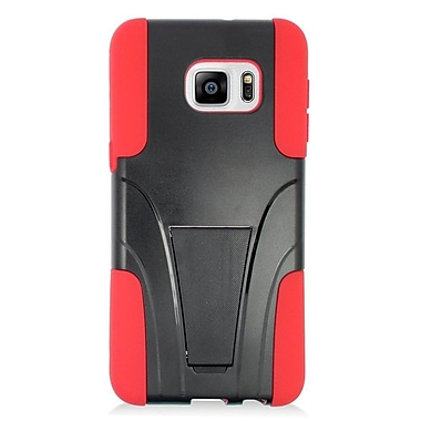 Insten Hard Dual Layer Plastic Hybrid Case For Samsung Galaxy S6 Edge Plus - Red