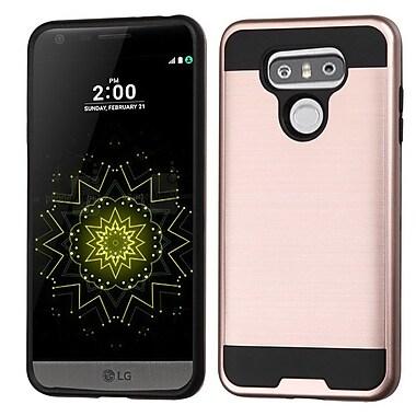 Insten Brushed Hybrid Dual Layer Hard TPU Protective Case For LG G6 - Rose Gold/Black