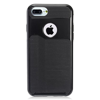 Insten Slim Hybrid PC/TPU Rubber Case Cover for Apple iPhone 7 - Black