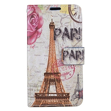 Insten Eiffel Tower Flip Leather Fabric Cover Case w/stand/card slot For Samsung Galaxy J7 (2016)