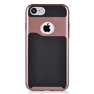 Insten Slim Dual Layer Hybrid PC/TPU Rubber Case Cover for Apple iPhone 7 - Black/Rose Gold