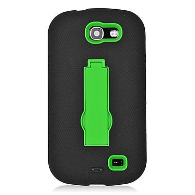 Insten Symbiosis Skin Dual Layer Rubber Hard Stand Case For Samsung Galaxy Express SGH-i437 - Black/Green