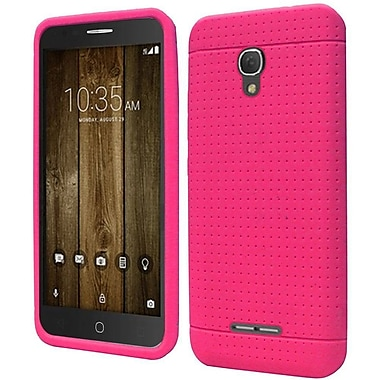 Insten Rugged Silicone Rubber Cover Case For Alcatel One Touch Fierce 4 / Pop 4 Plus - Hot Pink