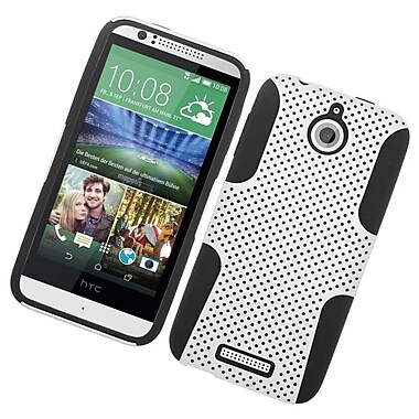 Insten Astronoot Hard Dual Layer Rubberized Silicone Case For HTC Desire 510 - White/Black