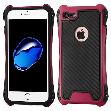 Insten Hard Dual Layer TPU Case For Apple iPhone 7 - Black/Hot Pink