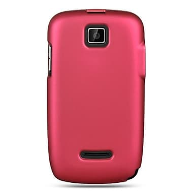 Insten Hard Crystal Rubber Skin Protective Shell Case For Motorola Theory - Hot Pink