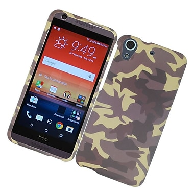 Insten Camouflage Hard Rubber Coated Cover Case For HTC Desire 626 - Brown