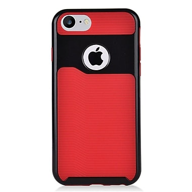 Insten Slim Dual Layer Hybrid PC/TPU Rubber Case Cover for Apple iPhone 7 - Red/Black