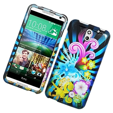 Insten Fireworks Hard Rubber Coated Case For HTC Desire 610/612 - Colorful