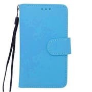 "Insten Universal PU Leather Case w/Card Slot Compatible With 4.5"" Phone, Blue"