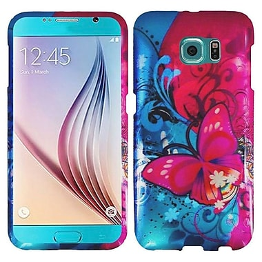 Insten Butterfly Bliss Hard Case For Samsung Galaxy S6 Active - Red/Blue