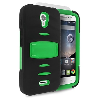 Insten Dual Layer Hybrid Case with stand For Alcatel One Touch Pop Astro - Black/Green