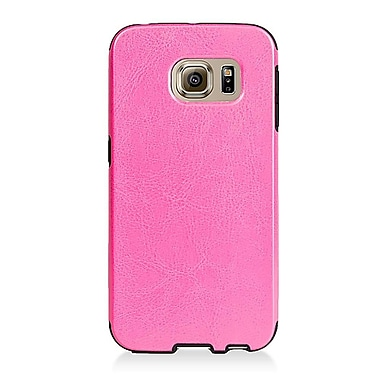 Insten Leather Fabric TPU Case for Samsung Galaxy S6 Edge - Pink