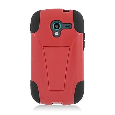 Insten Hard Hybrid Plastic Silicone Case with stand for Samsung Galaxy Exhibit - Red/Black