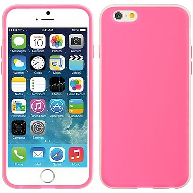Insten Crystal Skin Tinted TPU Rubber Gel Case For Apple iPhone 6 / 6s - Hot Pink