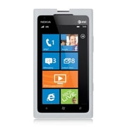 Insten Hard Crystal Skin Protective Shell Back Case For Nokia Lumia 900 - White