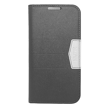 Insten Flip Wallet Leather Fabric Case with Card slot For HTC One M8 - Black
